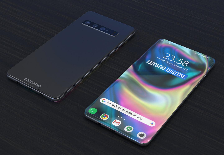 Samsung smartphone met under-screen camera