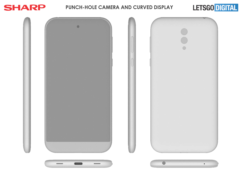 Sharp smartphone punch-hole camera