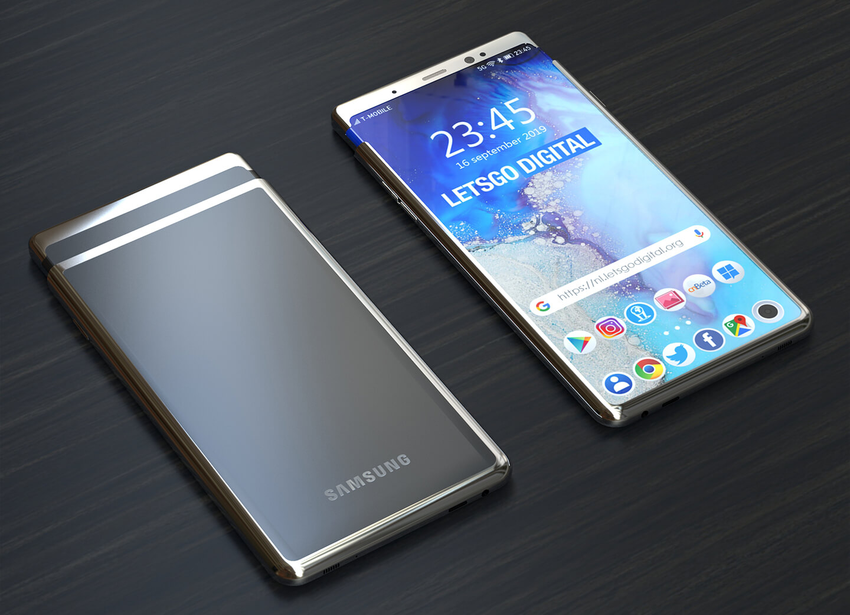 Smartphone met edge display