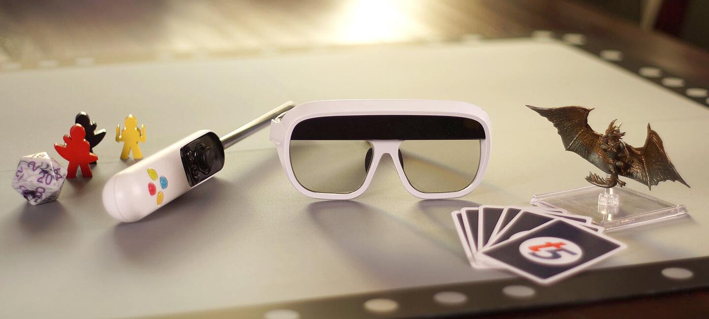 Augmented reality spel met bril