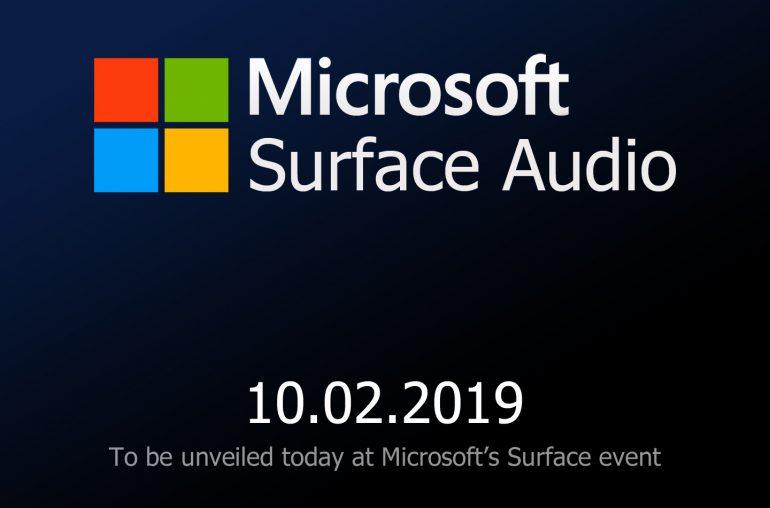 Microsoft Surface audio