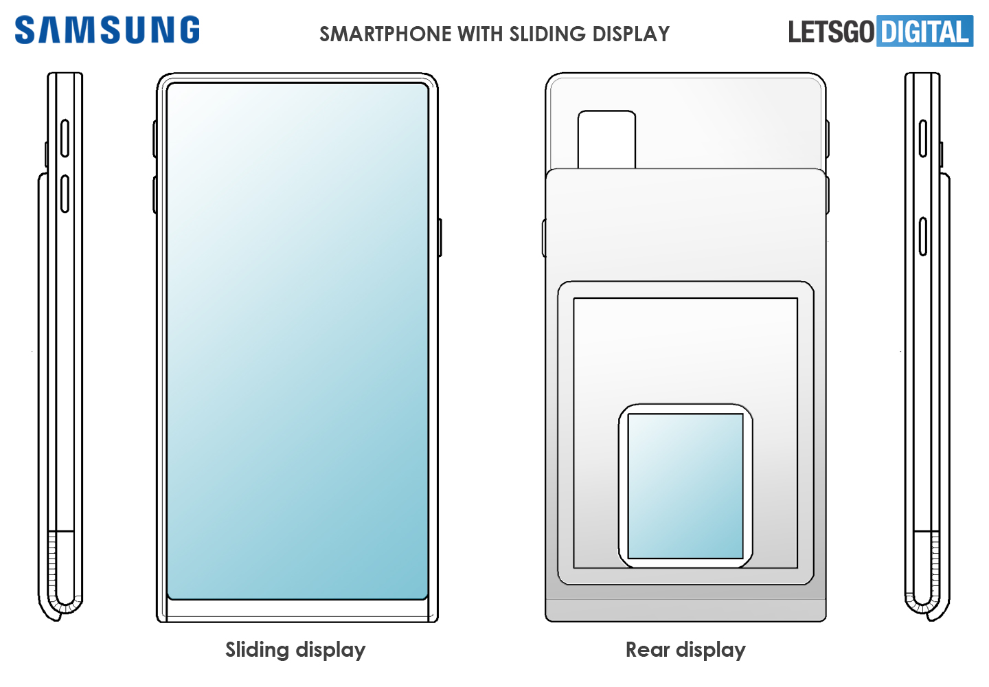 Samsung smartphone sliding display