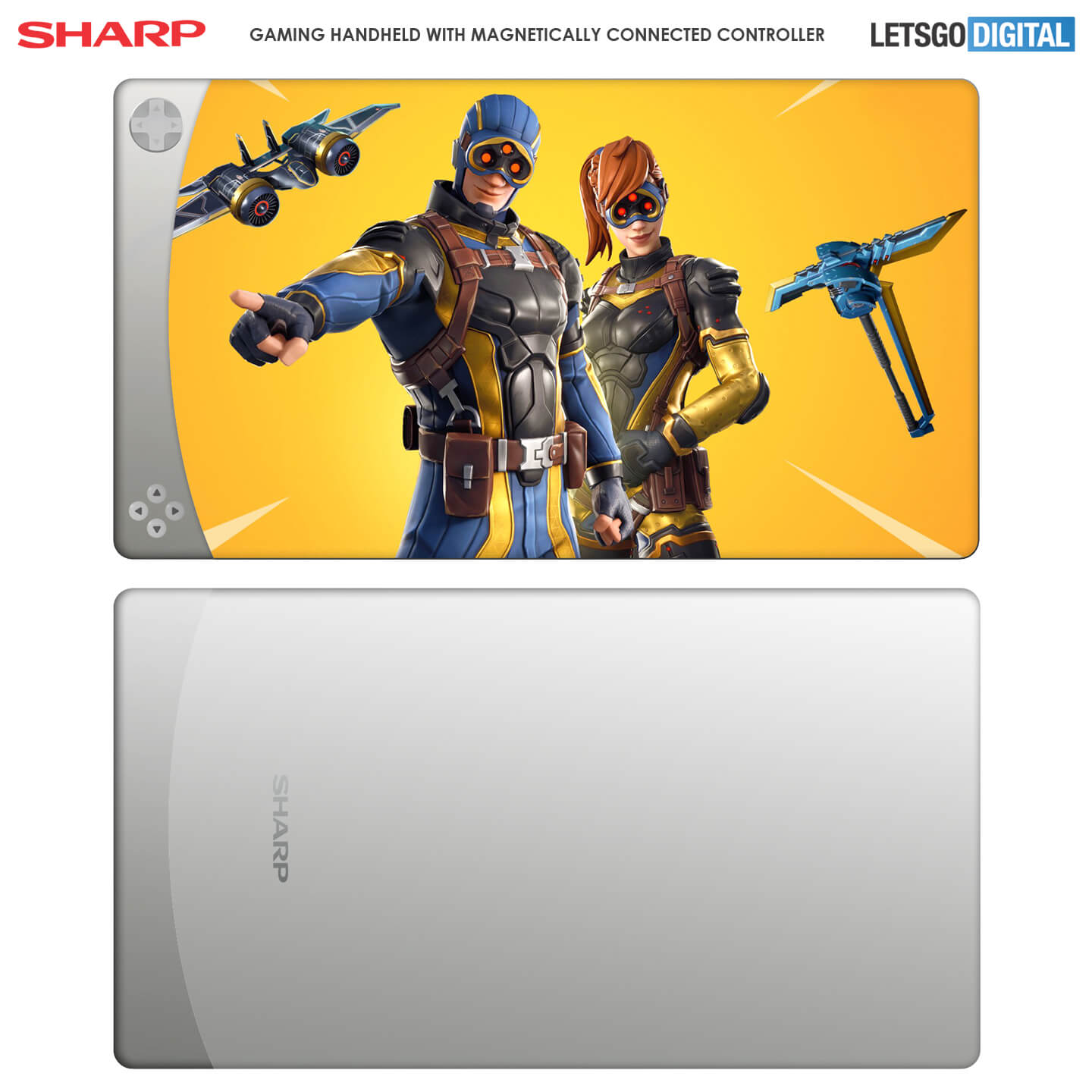Sharp gaming handheld