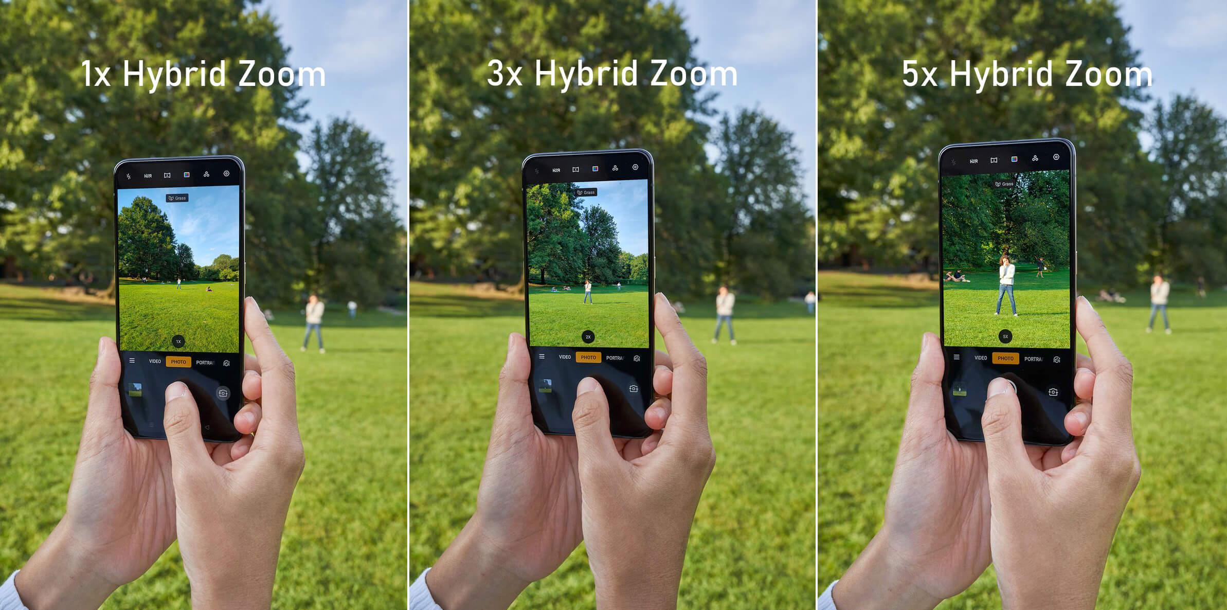 Smartphone met 5x zoom