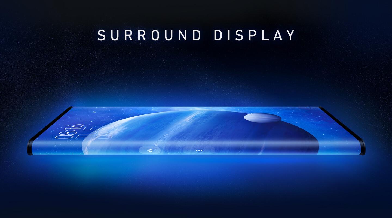 Smartphone met surround display
