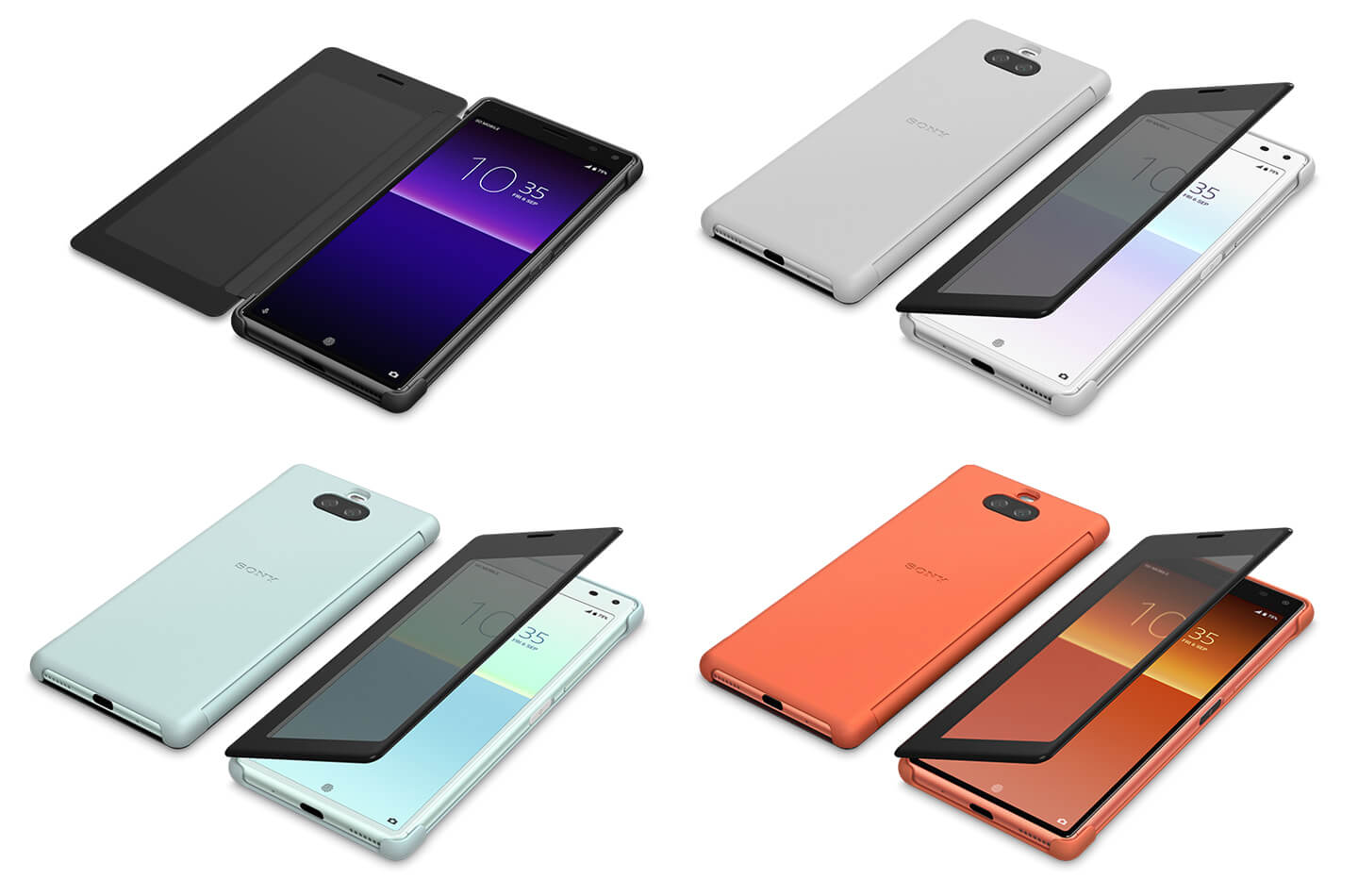 Sony Xperia 8 style cover view