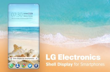 LG smartphone shell display