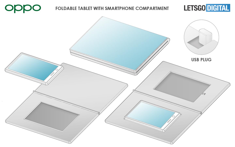 Oppo opvouwbare tablet