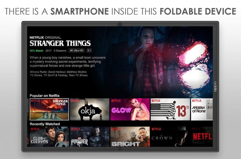 Oppo smartphone opvouwbare tablet