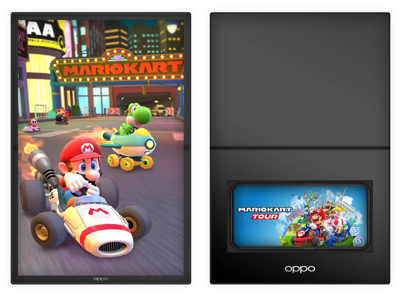Opvouwbare tablet voor gaming