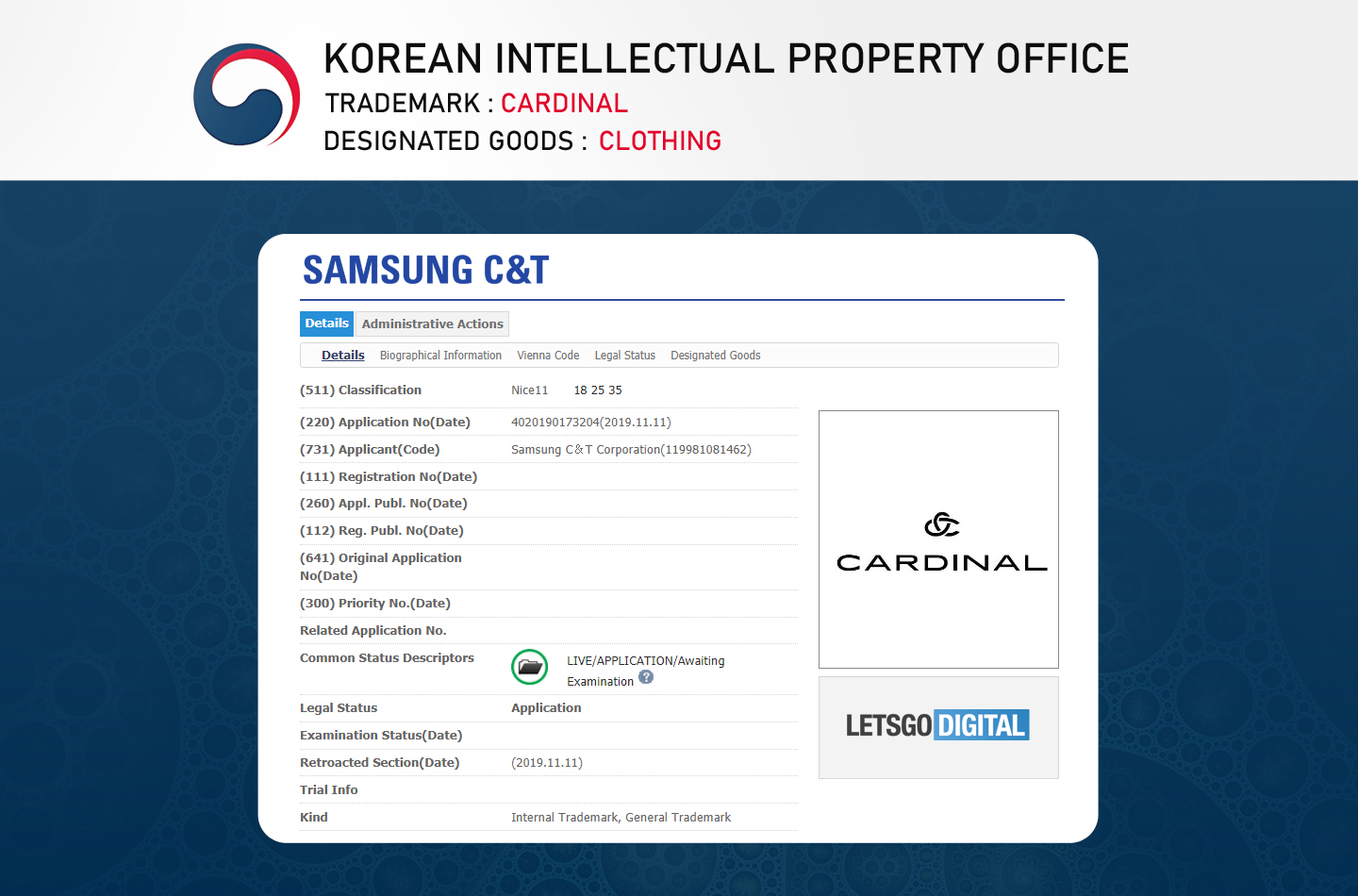 Samsung Cardinal Fashion label