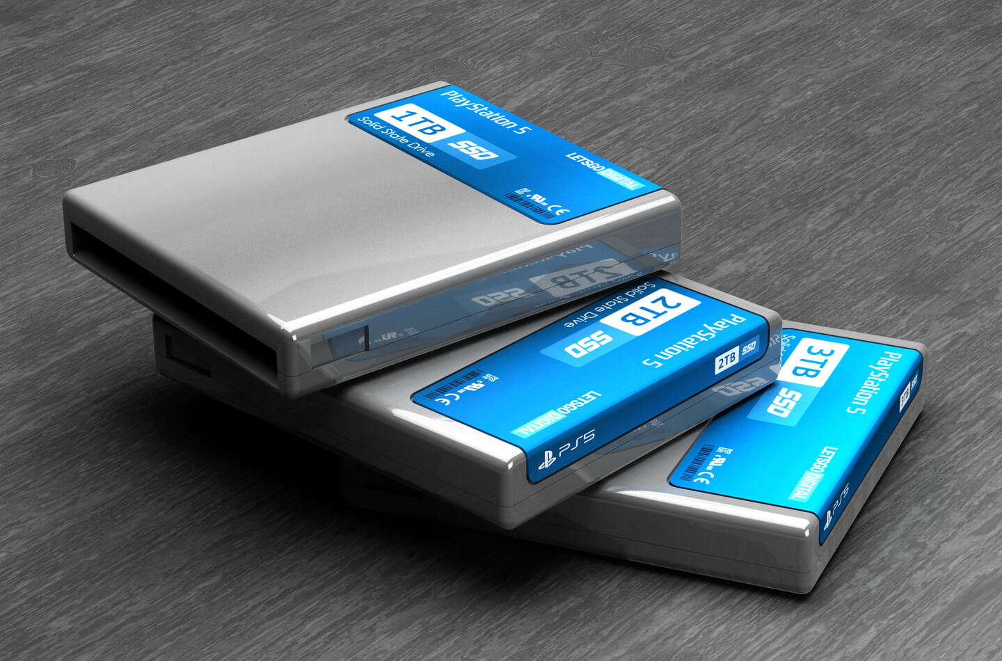 SSD cartridge voor Sony game console