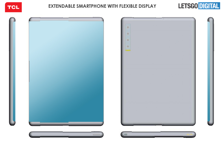 Mobiele telefoon uittrekbaar beeldscherm