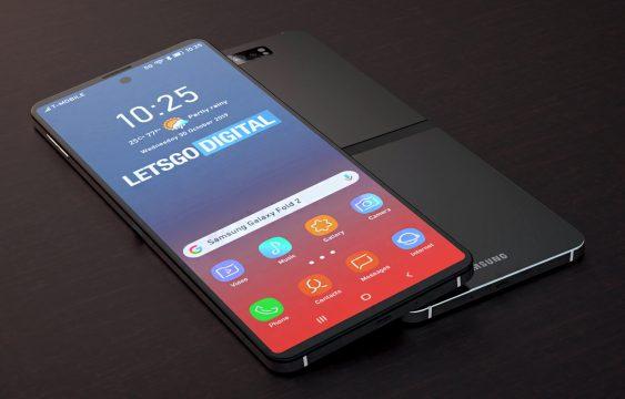 Nieuwe opvouwbare smartphone Samsung