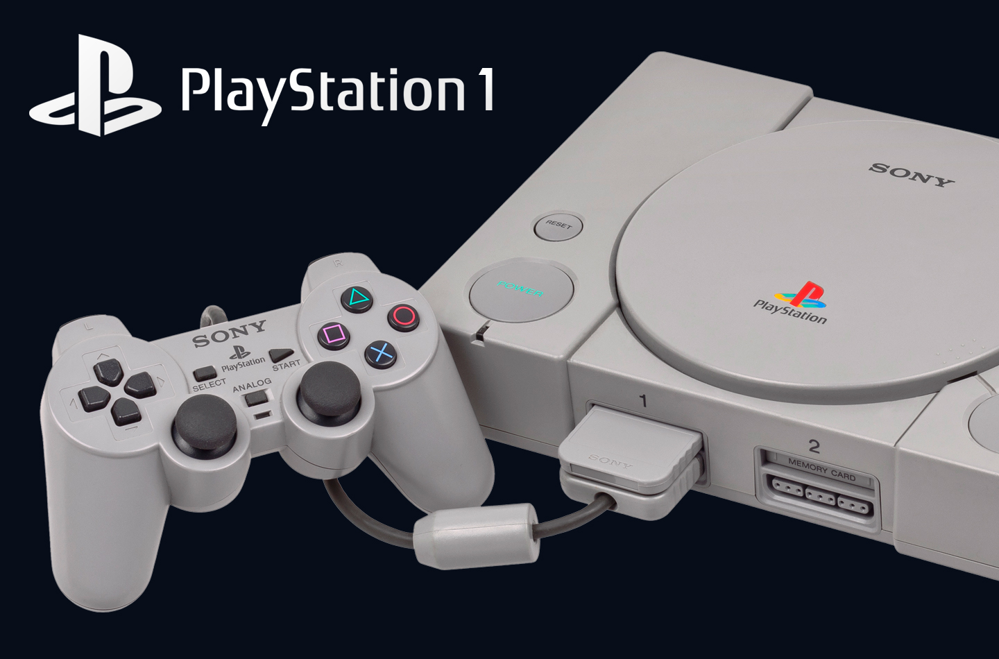 Oude PlayStation game console