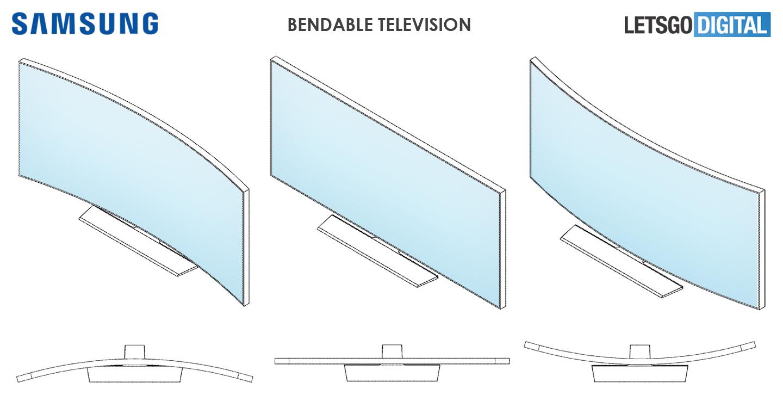 Samsung flexibele OLED televisie