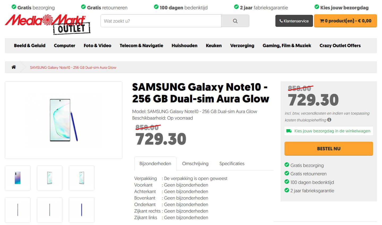 Samsung Galaxy Note 10 kopen