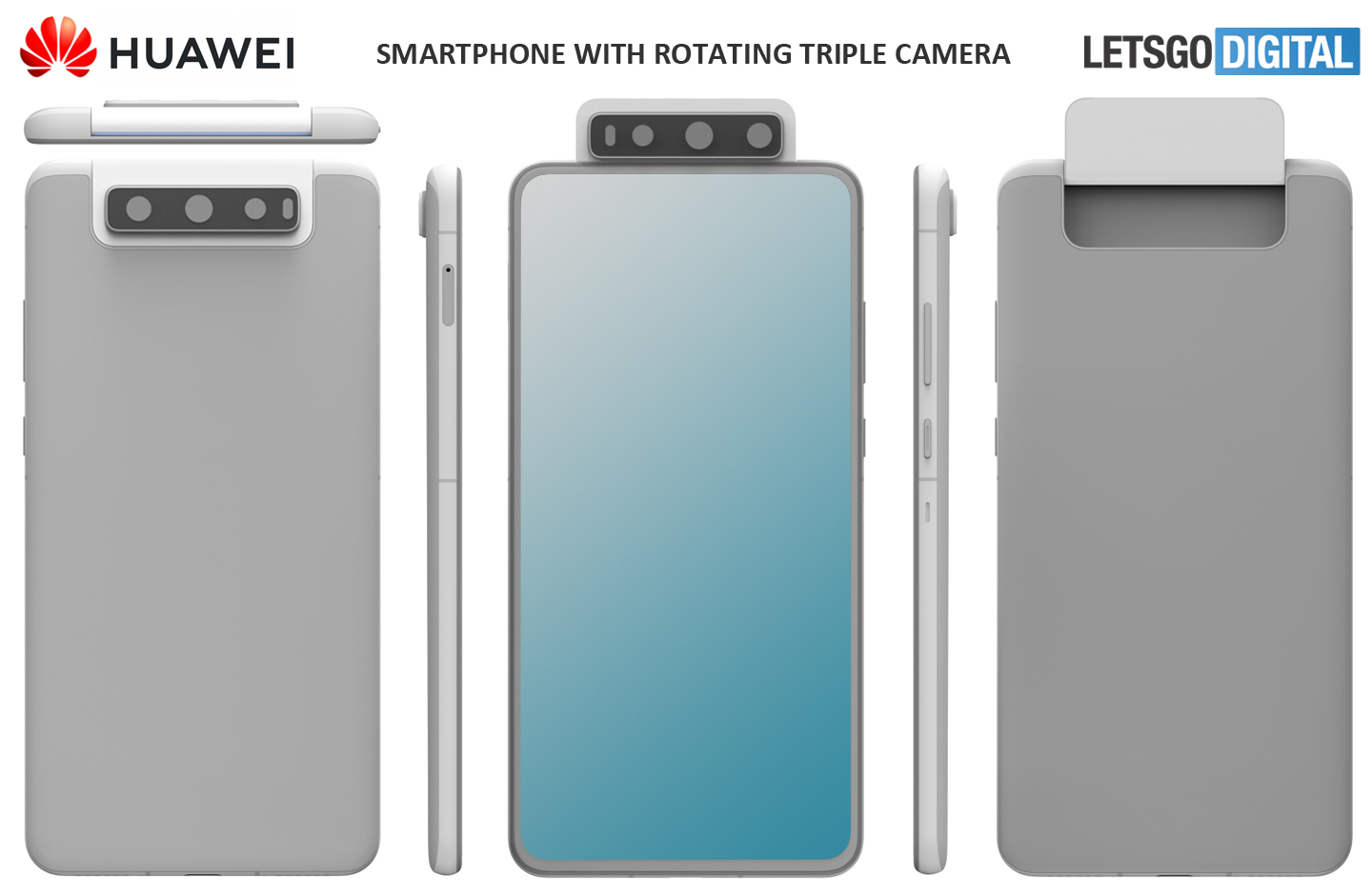 Smartphones met rotating camera