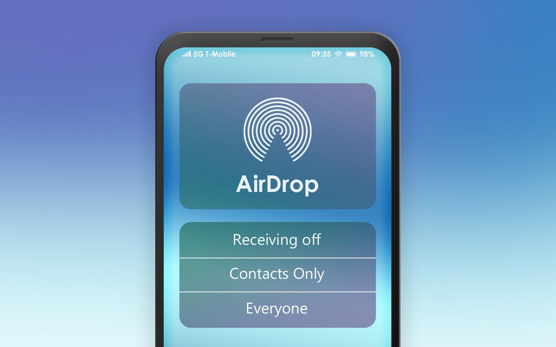 Apple 12 AirDrop app