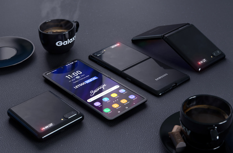 Galaxy Z Flip clamshell telefoon