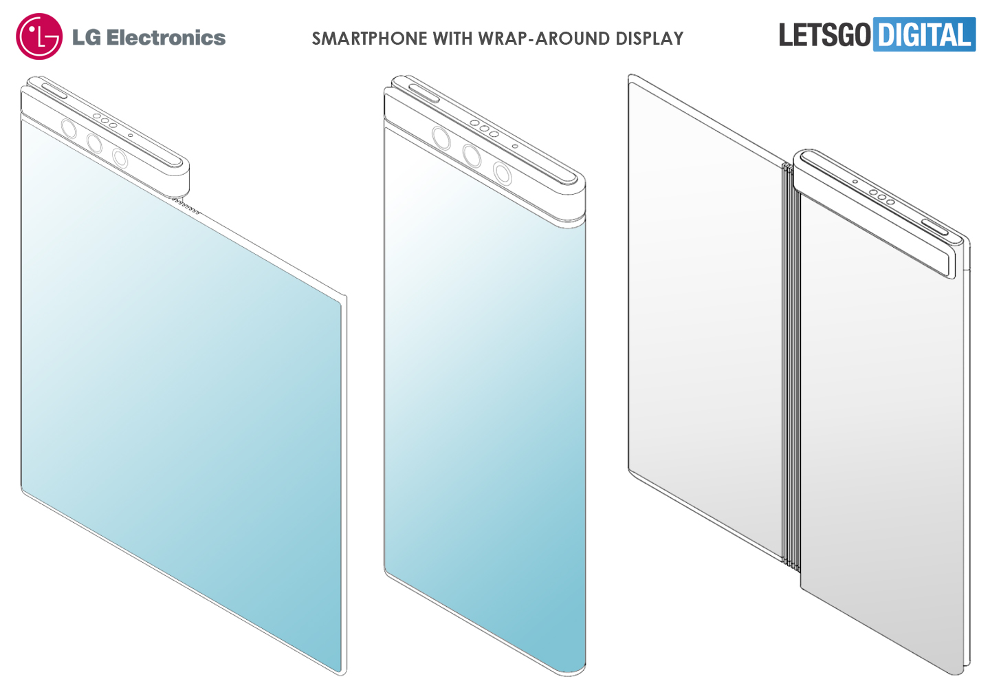 LG smartphone wraparound display