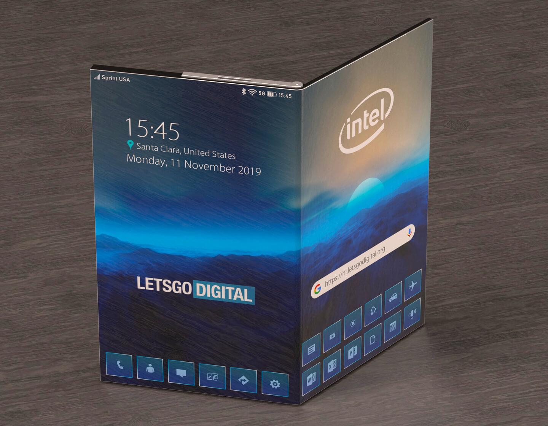Opvouwbare telefoon Intel