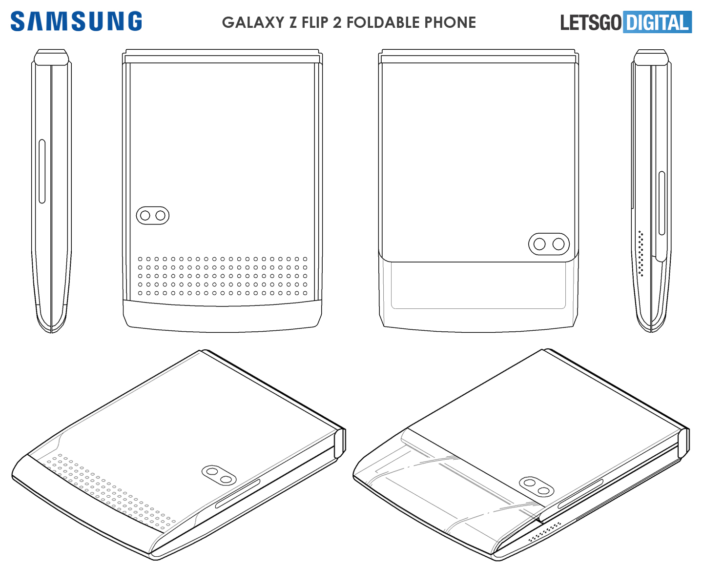Samsung Galaxy Flip transparante cover
