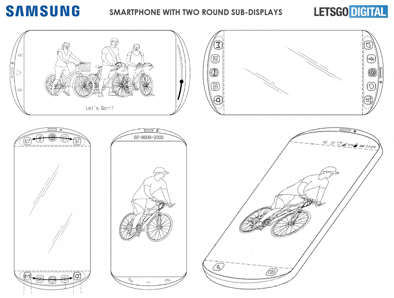 Samsung smartphone rond scherm