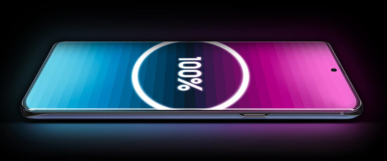 Smartphone met groot display