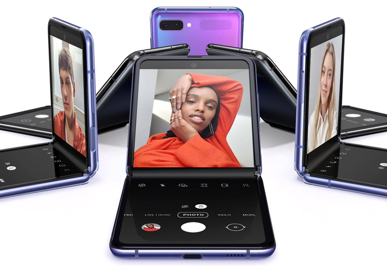 Opvouwbare Samsung telefoon