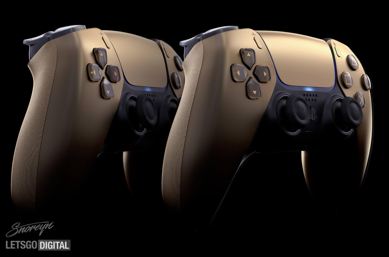 DualSense controller gouden model