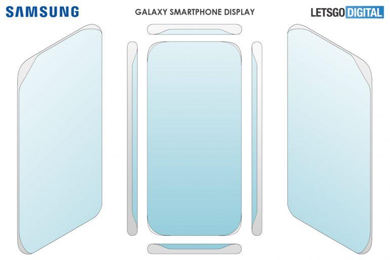 يعرض تطبيق براءات الاختراع من سامسونج هاتفًا بشاشة منحنية رباعية 6