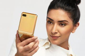 Samsung Galaxy Z Flip goud