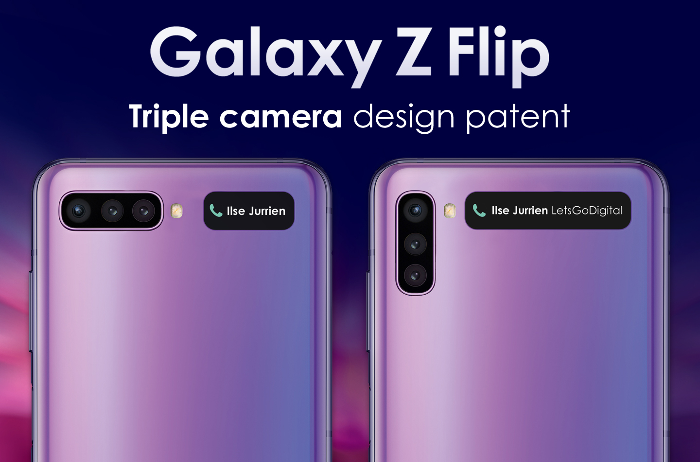 Samsung Galaxy Z Flip triple camera