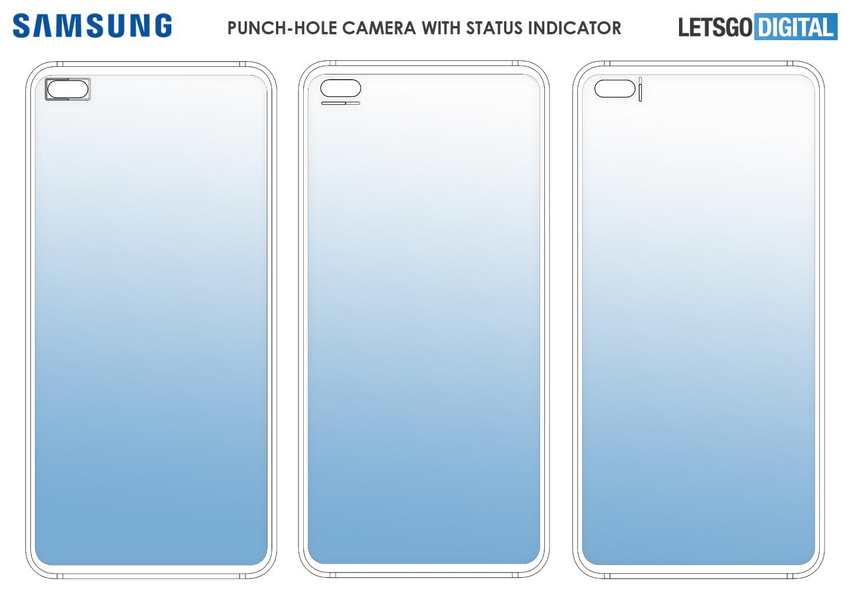 Smartphone camera status indicator Samsung