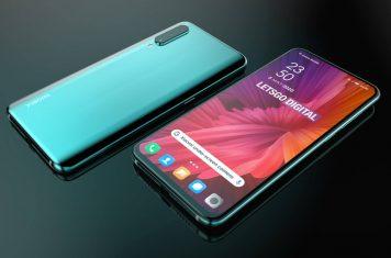 Smartphone met camera onder het display