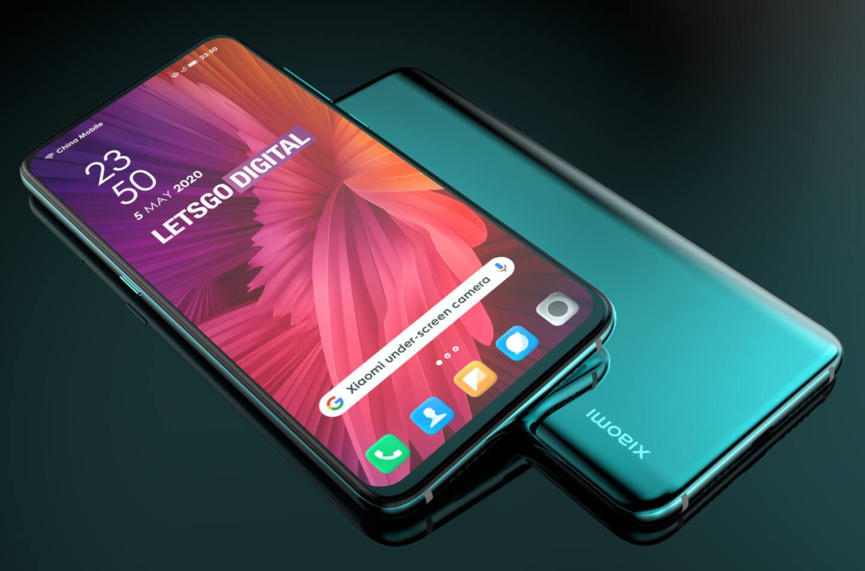 Telefoon met camera onder het scherm