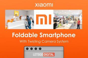 Xiaomi opvouwbare smartphone draaibare camera's