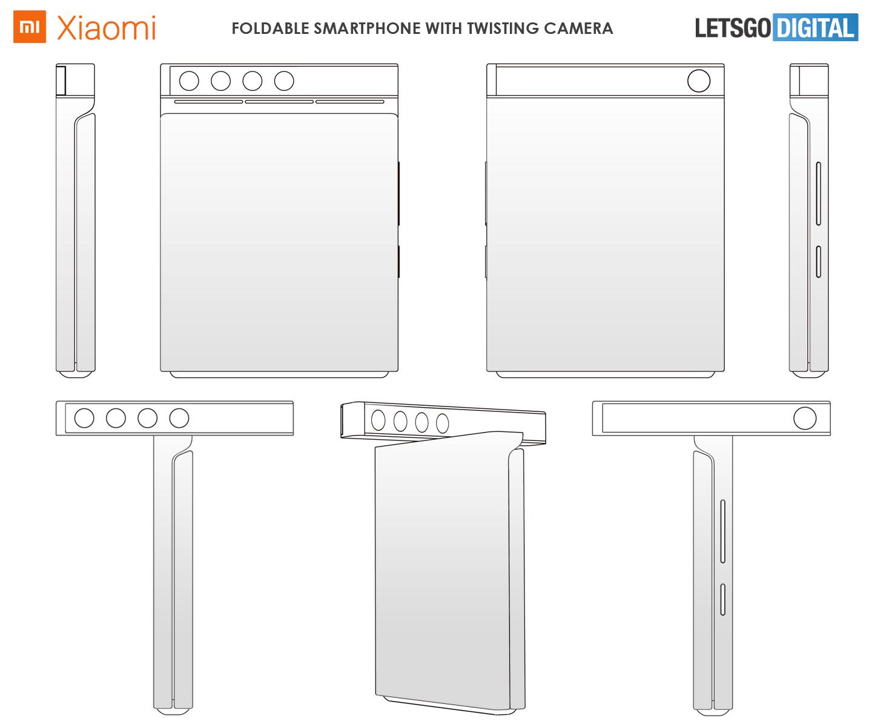 Sistema di fotocamera girevole per smartphone Xiaomi