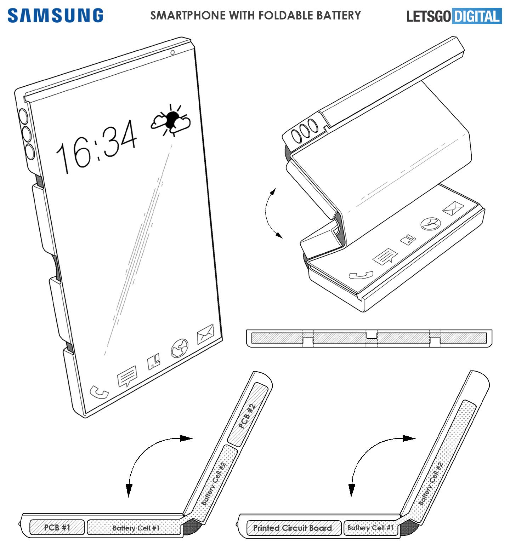 Buigbare batterij opvouwbare smartphones