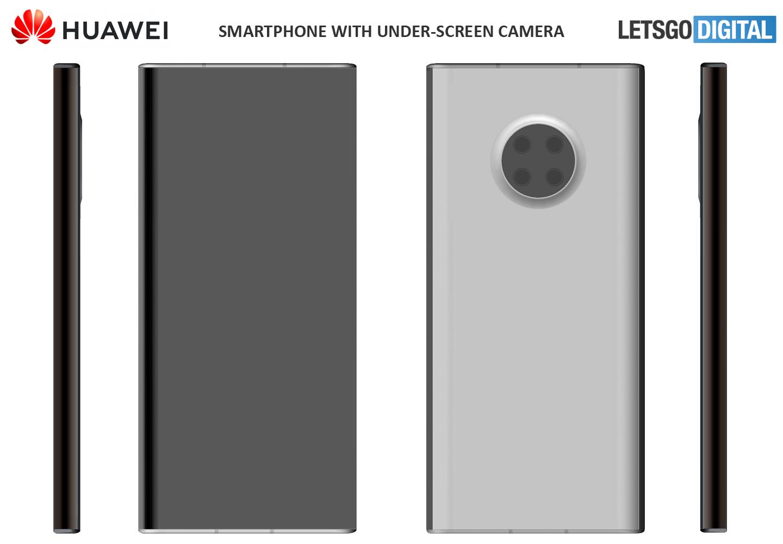 Huawei smartphone camera onder scherm
