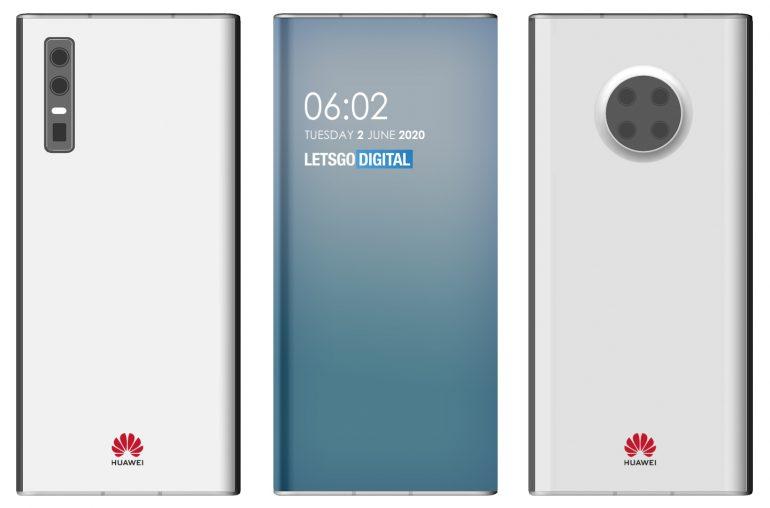 Huawei smartphones under screen camera
