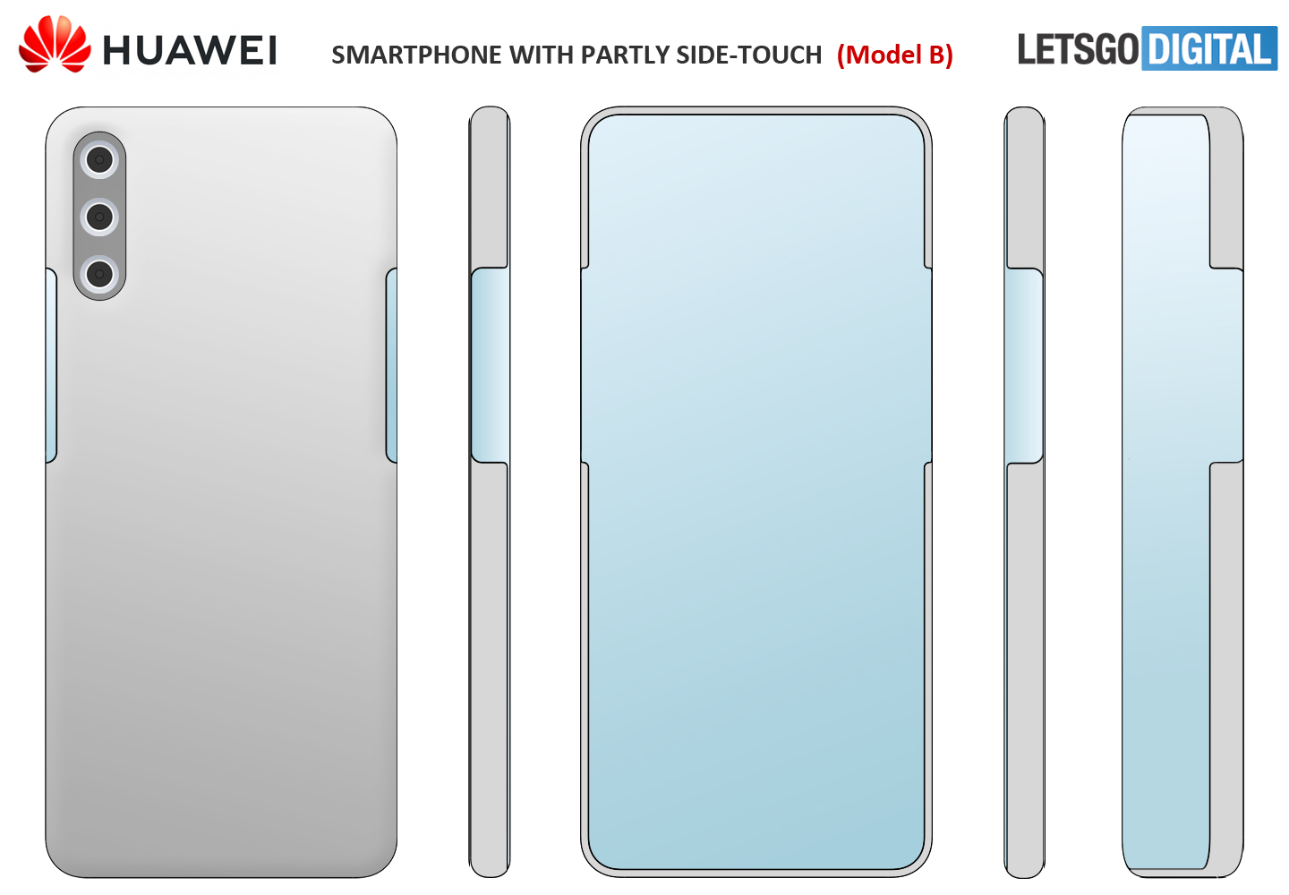 Huawei telefoon side-touch virtuele knoppen