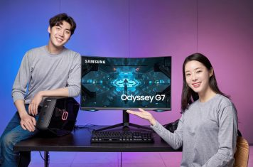 Samsung Odyssey G7 curved gaming monitor