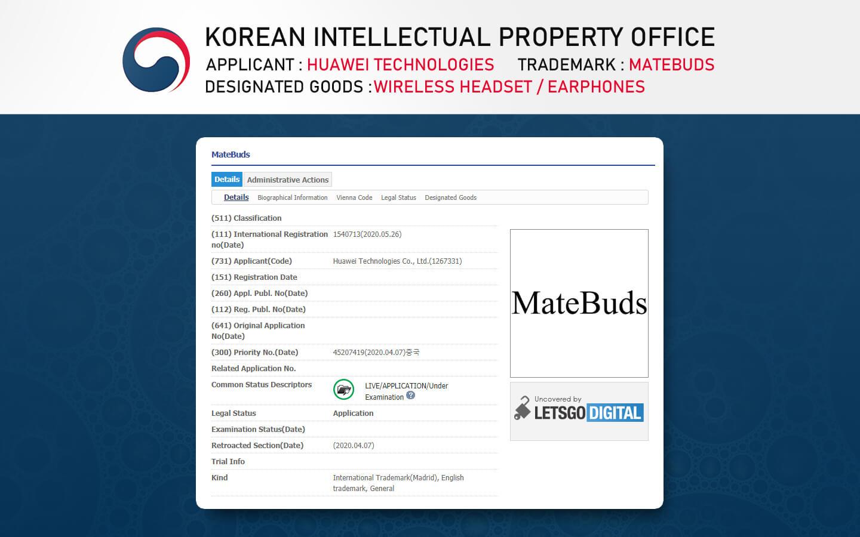 Беспроводные наушники Huawei Matebuds