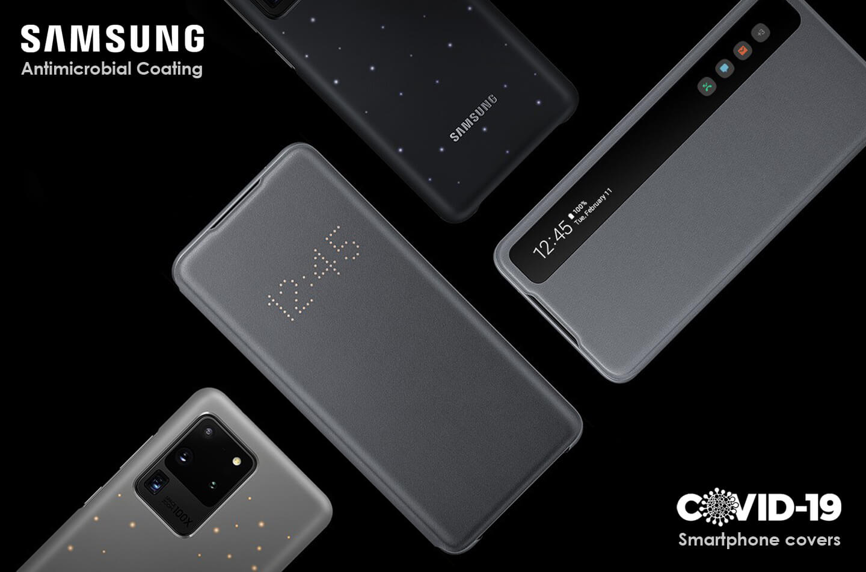 Samsung telefoon cover bescherming tegen coronavirus