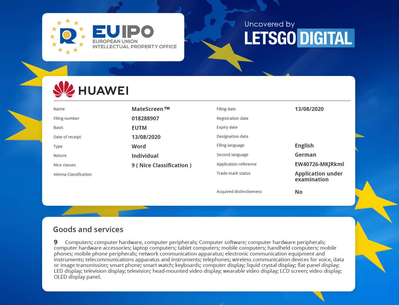 Huawei MateScreen