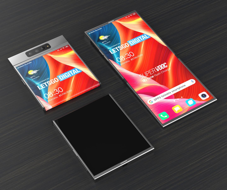 Oppo smartphone clamshell model