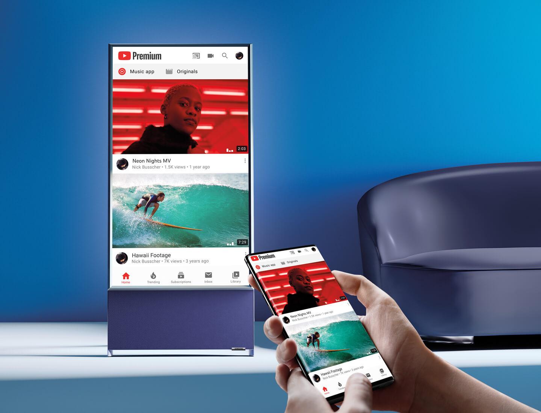 Samsung TV voor mobiele content