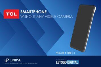 TCL smartphone onzichtbare camera's